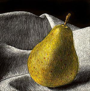 Art: Pear Sm.jpg by Artist Sandra Willard