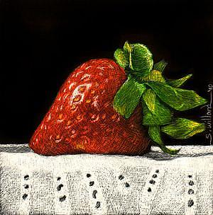 Art: Strawberry Thumbnail by Artist Sandra Willard
