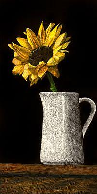 Art: Little Sunflower by Artist Sandra Willard