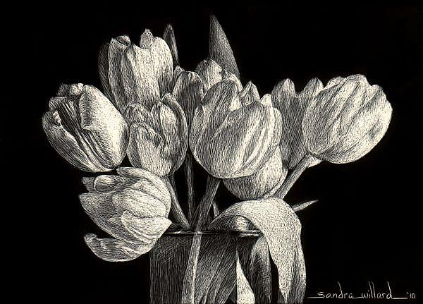 Art: Tiny Tulips by Artist Sandra Willard