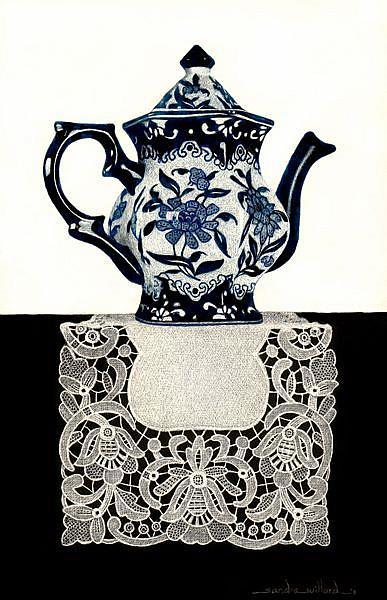 Art: Tea for Ozu by Artist Sandra Willard
