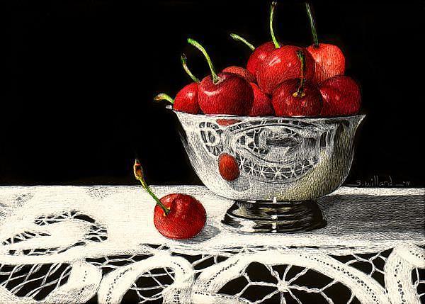 Art: Petite Cerise by Artist Sandra Willard