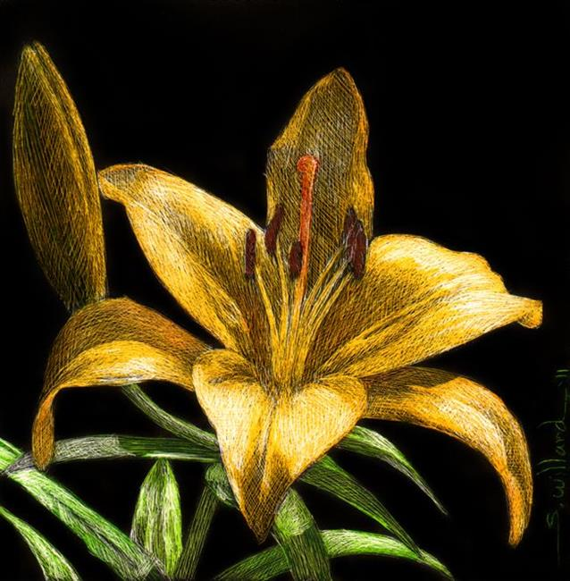 Art: Yellow Lily by Artist Sandra Willard