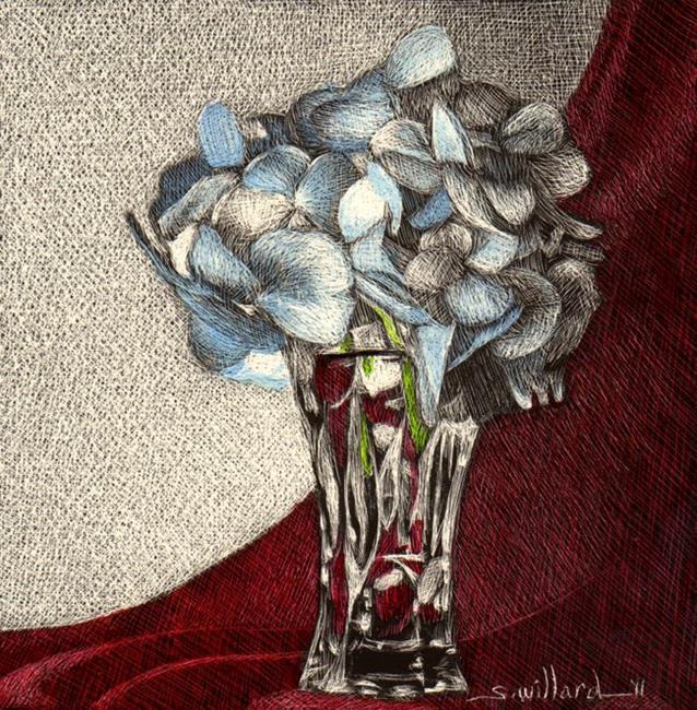 Art: Mini Hydrangea by Artist Sandra Willard