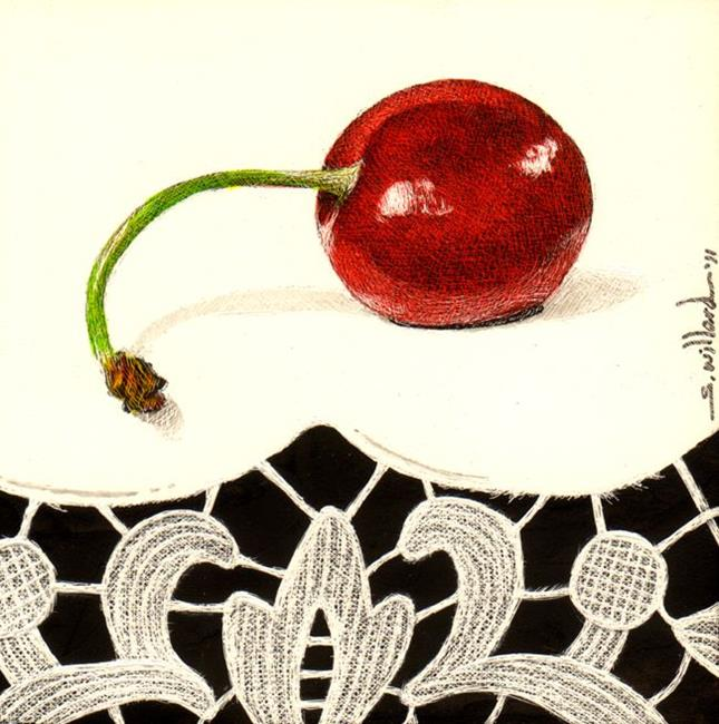 Art: Cherry II by Artist Sandra Willard