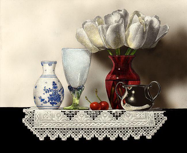 Art: Etude de blanc by Artist Sandra Willard