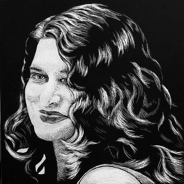 Art: Self Portrait by Artist Monique Morin Matson