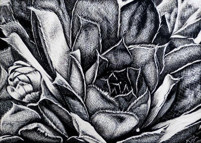 Art: Succulent  (SOLD) by Artist Monique Morin Matson