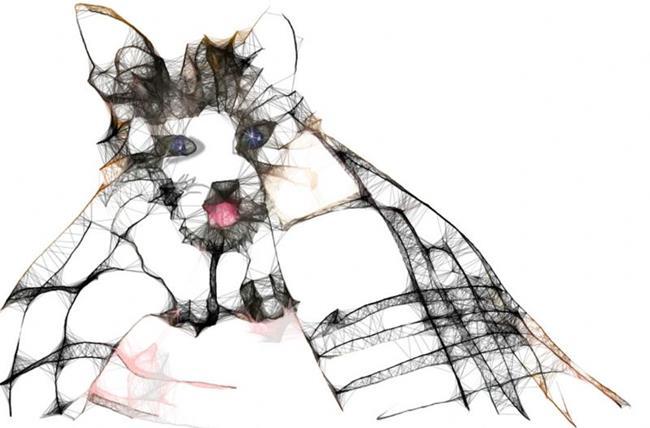 Art: Kitten Bath by Artist Alma Lee