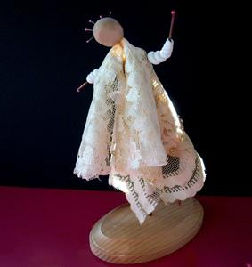 Detail Image for art Art Doll Clay Copper Lace Vintage