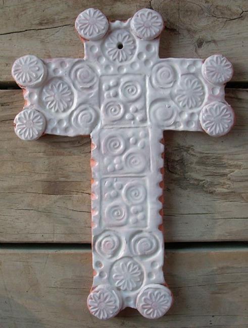 Art: White Cross by Artist Sherry Key
