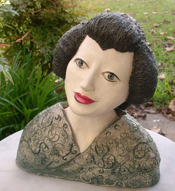 Art: Geisha Sculpture by Artist Sherry Key