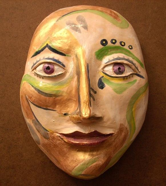 Art: Face Mask-Sculpture by Artist Sherry Key