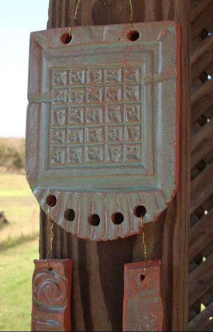 Art: Red Clay Windchime by Artist Sherry Key