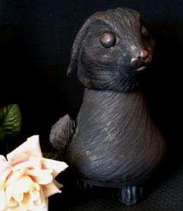 Detail Image for art Black Rabbit Funerary Urn
