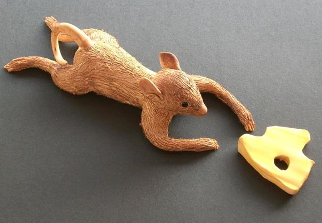Art: The Mouse Takes The Cheese by Artist Sherry Key