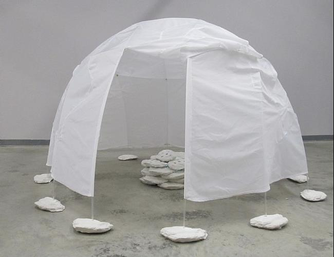 Art: Sweat Lodge by Artist Aylan N. Couchie