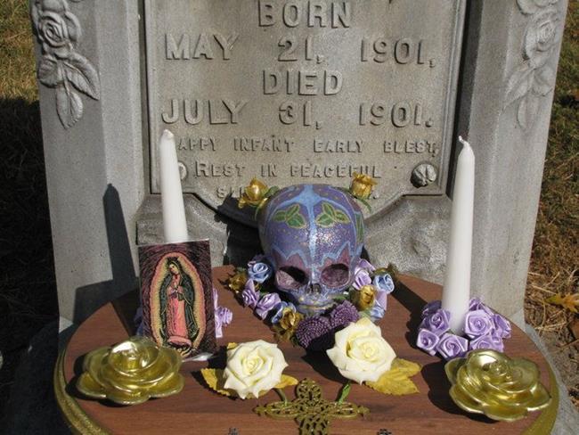 Art: In Memoriam: Sugar Skull Shrine by Artist Carissa M Martos