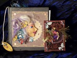 Art: Fae Altered book by Artist Emily J White