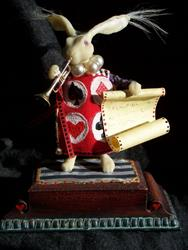 Art: The White Rabbit by Artist Emily J White
