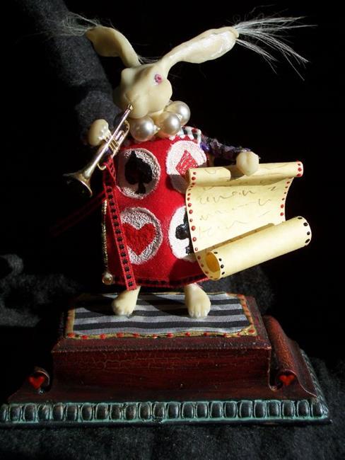 Art: The White Rabbit by Artist Emily J White