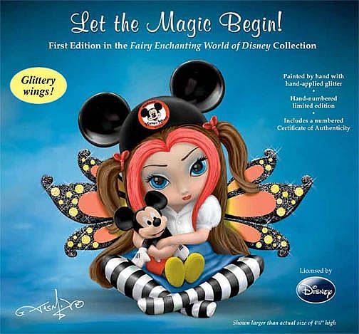 Art: Jasmine & Disney present: Fairy Enchanting World of Disney by Artist Jasmine Ann Becket-Griffith
