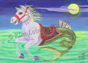 Detail Image for art Moonlit Carousel Seahorse