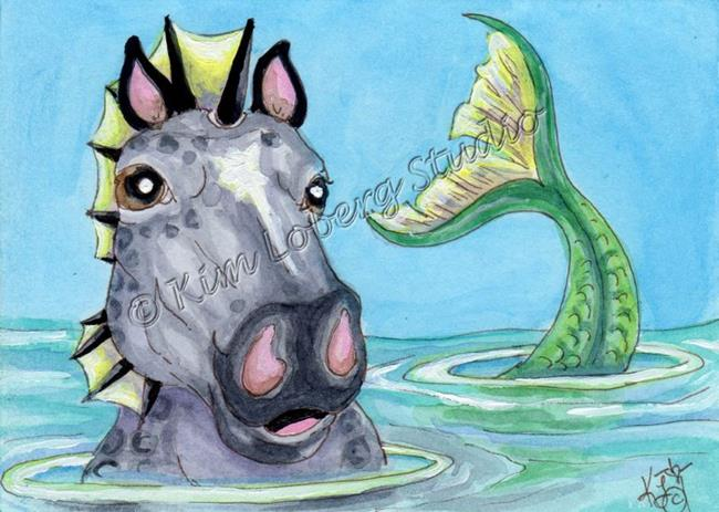 Art: Sea Horse Selfie by Artist Kim Loberg