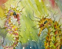 Art: Get Happy Seahorse by Artist Delilah Smith