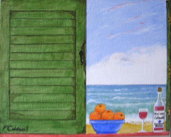 Art: Shabby Shutters III (Sold) by Artist Fran Caldwell
