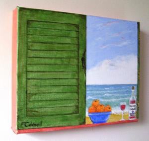 Detail Image for art Shabby Shutters III (Sold)