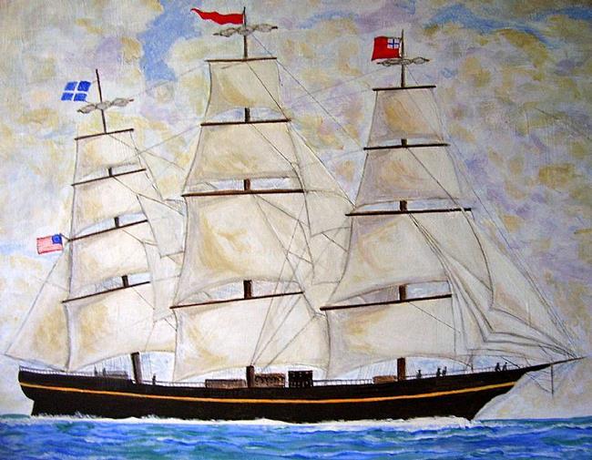 Art: The Clipper by Artist Fran Caldwell