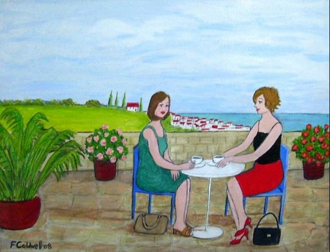 Art: Coffee in the Sun (Not for Sale) by Artist Fran Caldwell