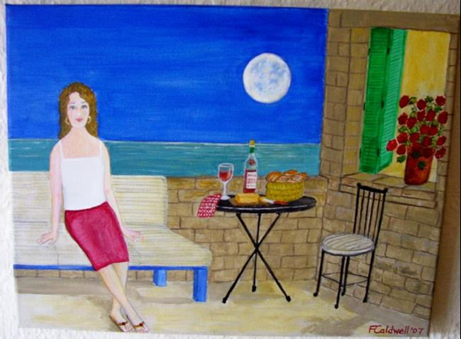 Art: Supper for One? (SOLD) by Artist Fran Caldwell
