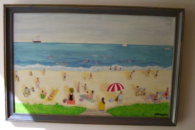 Art: Becky at the Beach (Not for Sale) by Artist Fran Caldwell