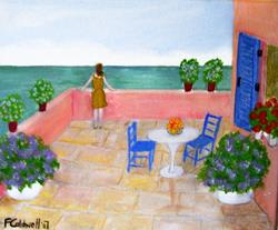 Art: The Terrace (SOLD) by Artist Fran Caldwell