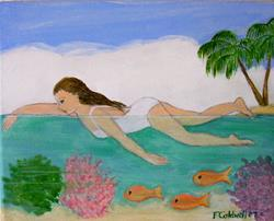 Art: Lagoon (SOLD) by Artist Fran Caldwell