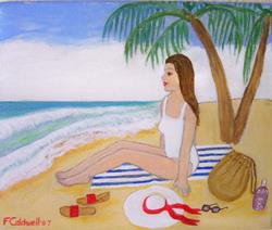 Art: The Cove (SOLD) by Artist Fran Caldwell