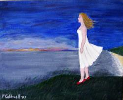 Art: Evening Horizon (SOLD) by Artist Fran Caldwell