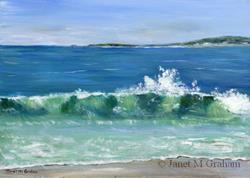 Art: Tasmanian Coast by Artist Janet M Graham