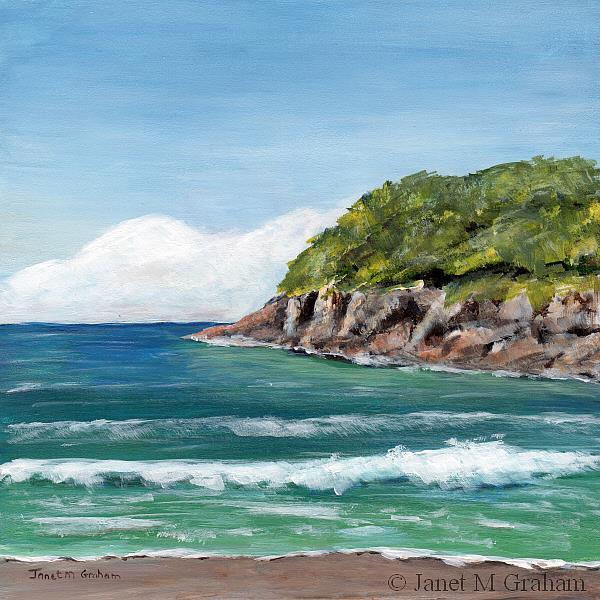 Art: Sea Bay by Artist Janet M Graham
