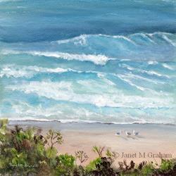 Art: Marcoola Beach by Artist Janet M Graham