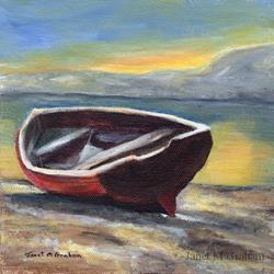 Art: Sunrise over the Bay by Artist Janet M Graham
