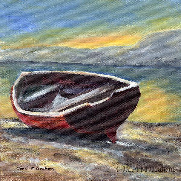 Art: Sunrise over the Bay by Artist Janet M Graham