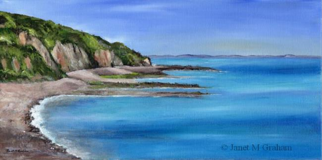 Art: Coastal View by Artist Janet M Graham