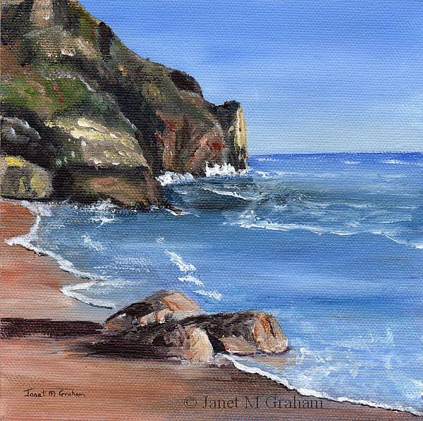 Art: Sea Cove by Artist Janet M Graham