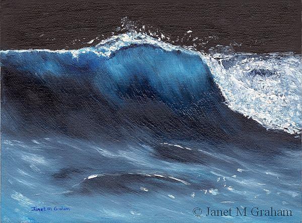 Art: Moonlit Wave by Artist Janet M Graham
