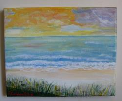 Art: Evening Storm Brewing (Sold) by Artist Fran Caldwell