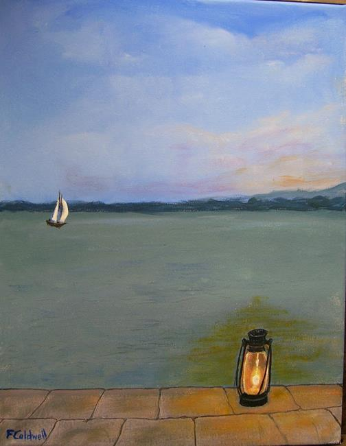 Art: LightingThem Home (Sold) by Artist Fran Caldwell