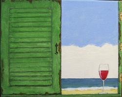 Art: Beach Hut (Sold) by Artist Fran Caldwell